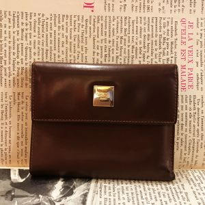 CELINE brown color leather wallet