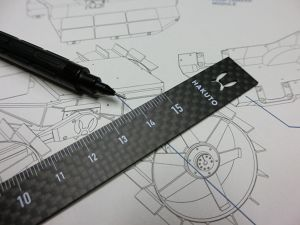 HAKUTO Carbon Ruler