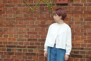 20's French Antique Smock Blouse
