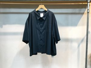 "WHOWHAT""5X SHIRT<SHORT>SMOKY BLUE"""