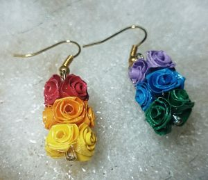 【Butterfly Rose】バラのピアス③