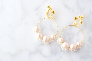 Pearl couture earring