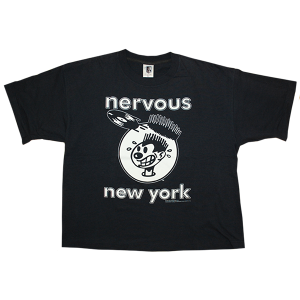 """Nervous Records"" Vintage Rap Tee Used"