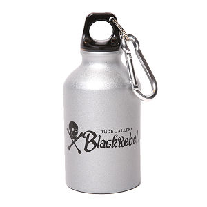 RUDE GALLERY BLACK REEBL  ALMINUM BOTTLE SILVER