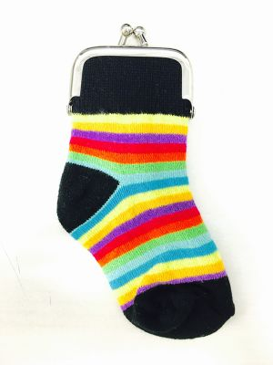 socks pouch  rainbow