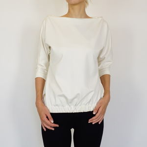 Wide Neck Jersey Tops / Ivory