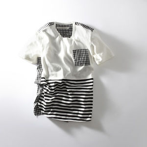 """Curly (カーリー) """"SS CONFUSED  BORDER TEE"""""""