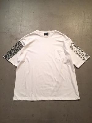 "5,CP1919 SLEEVE WIDE SILHOUETTE POCKET Tee ""WHITE"""