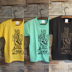 Little Woody × strip  NO NUKES ONE LOVE Kid's T-shirts
