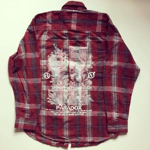 In deep forest Flannel (Red) White print
