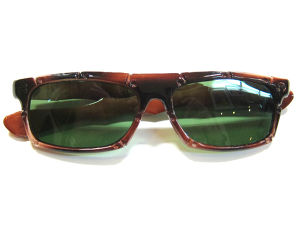 NOS BAMBOO biker shade sunglasses #F-03,brown flame