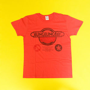 BungelingBay Tシャツ(レッド×黒字3点ロゴ)