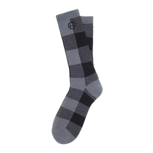HUF BUFFALO PLAID CREW SOCK BLACK