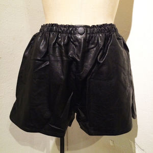 Fake Leather Short Pants