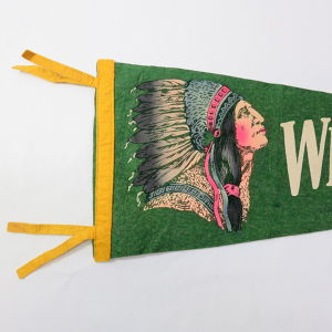 Vintage Pennant (ペナント ) Indian Head WILKERS-BARRE,PA.