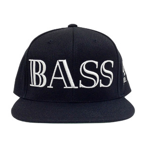 BASS 40Hz Snapback Cap Black 6Panel - iDonStore
