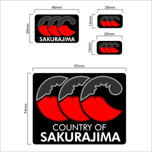 [ステッカー] COUNTRY SAKURAJIMA
