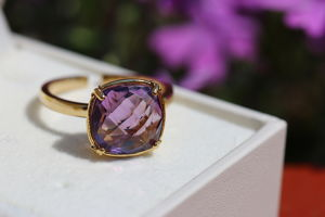 Amethyst quartz ring