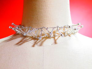 Three-dimensional Toge CHOKER[Silver]