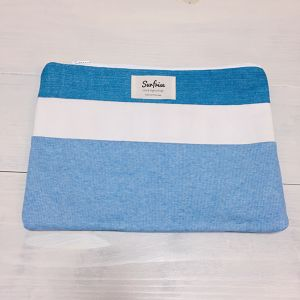 【6/17販売】Denim clutch bag R6(Light Blue)