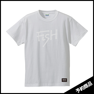 BURITSU FiSH Tee : White×White  7月中旬〜下旬入荷予定
