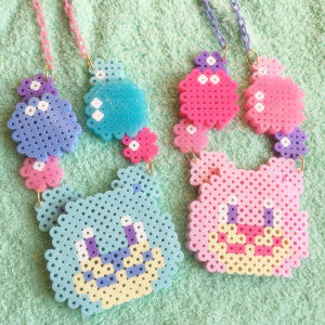 【Apps and Beads】くま&しゃぼんネックレス