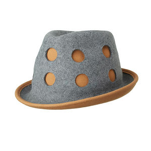 STACKING HAT/camel×gray