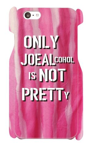 【受注生産】iPhone6 / 6s対応 「ONLY JOE ALCOHOL IS NOT PRETTY」ピンク iPhoneケース