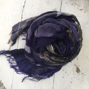 【tamaki niime】roots shawl BIG cotton100% H〜K 玉木新雌