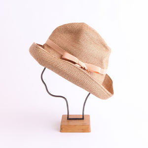 mature ha./BOXED HAT 101 mixbrown×light salmon