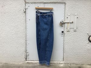 "MAISON EUREKA "" VINTAGE REWORK BIGGY PANTS  BLUE B """