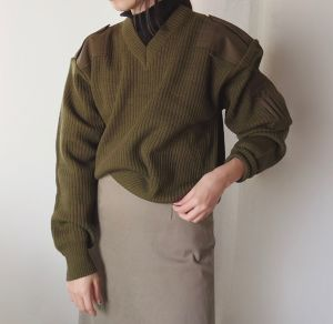 Ribbed-knit sweater