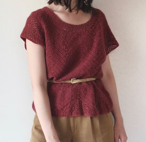 Crochet cotton top