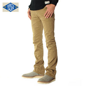 016007008(COLOR STRETCH TIGHT FLARE)BEIGE