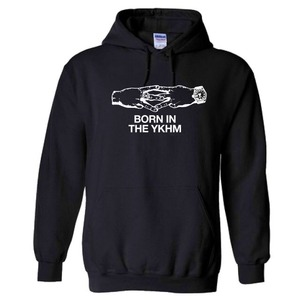 BORN IN THE YKHM PULLOVER HOODIE BLK