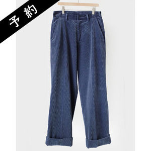 【予約商品】AURALEE WASHED CORDUROY WIDE SLACKS
