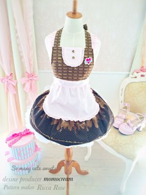 【Sale】chocolate cupcake doll apron