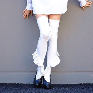 Frill knee high WHITE