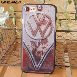 iPhone7/7Plus/SEケース RUSTY VW Early BUS RED