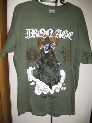 IRON AGE mos green T-SHIRT [M] USED