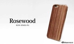 REAL WOODEN CASE ローズウッド iphone6/6s 対応