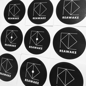 REAWAKE RECORD LABEL STICKER
