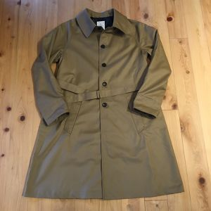 "HERVIER ""FRENCH MOTORCYCLE COAT""(beige)"