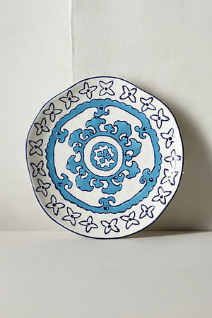 ANTHROPOLOGIE // Gloriosa Side Plate -blue