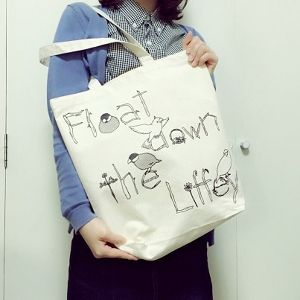 Float down the Liffey『文鳥トートバッグ』