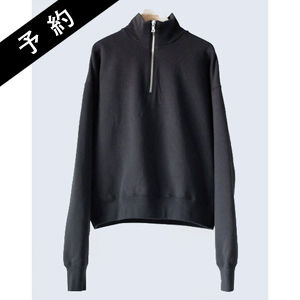 【予約商品】AURALEE BACK WOOL SWEAT HALF ZIP P/O