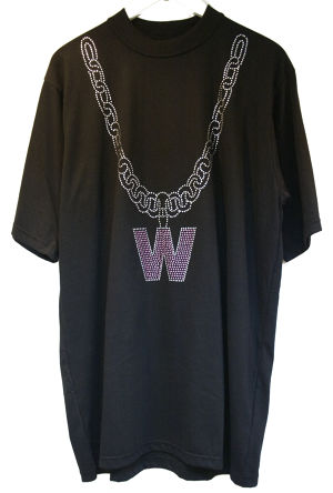 W.I.A BIG CHAIN T-SHIRT ビッグ チェーン Tシャツ / BLACK