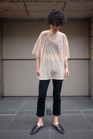 DRESSEDUNDRESSED✴︎tulle oversized t-shirt