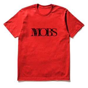 MOBS logo tee red