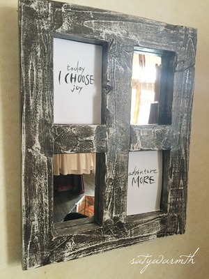 SALE! mirror photoframe/saty warmth